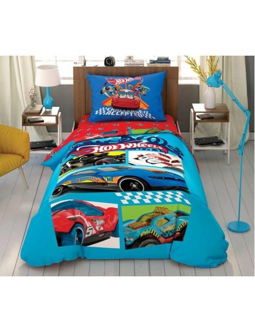 TAC Disney / Hot Wheels Challenge Accepted Лицензионные Комплекты детского постельного белья с героями из мультиков Ранфорс