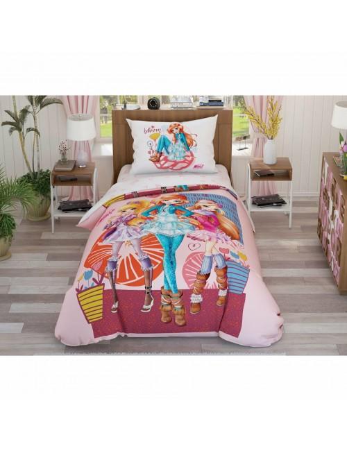 TAC Disney / Winx flowers Лицензионные Комплекты детского постельного белья с героями из мультиков Ранфорс