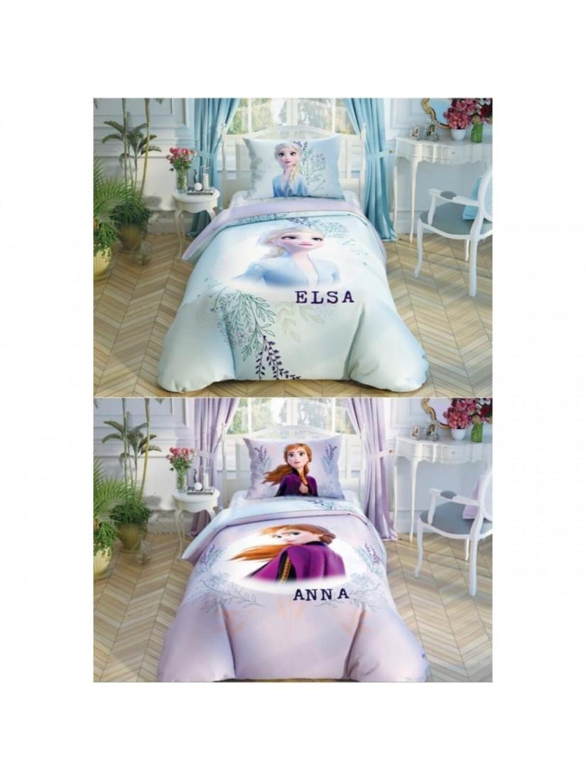 TAC Disney / FROZEN DOUBLE COLOR Лицензионные Комплекты детского постельного белья с героями из мультиков Ранфорс