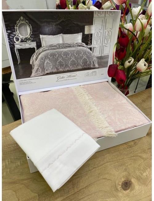 GELIN HOME TRUVA GUL KURUSU | Комплект постельного белья с покрывалом/пике