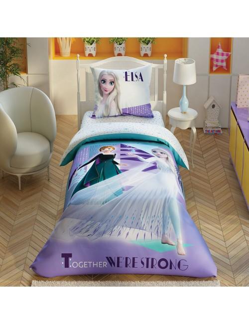 TAC Disney / FROZEN 2 AUTUMN Лицензионные Комплекты детского постельного белья с героями из мультиков Ранфорс