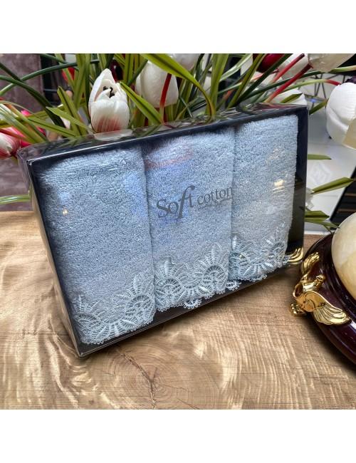 Полотенца «Victoria mint» (3 шт.) Soft Cotton 30Х50 см.