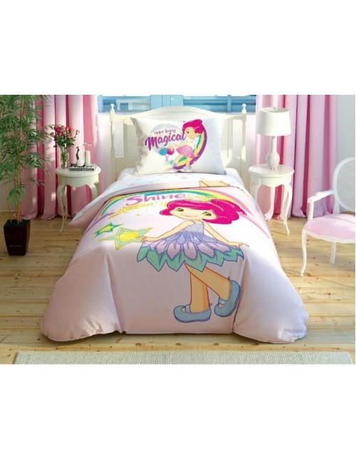 TAC Disney / Strawberry shortcake Shine Лицензионные Комплекты детского постельного белья с героями из мультиков Ранфорс