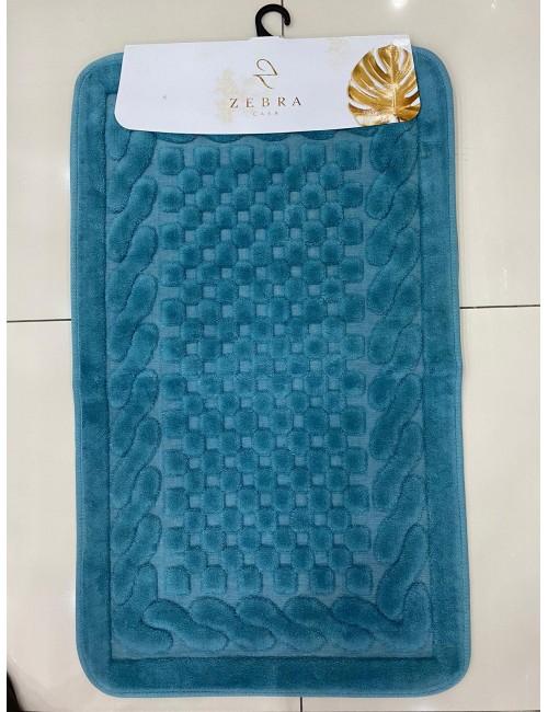 ZEBRA CASA OSLO PETROL / Очень мягкие коврики для ванной комнаты