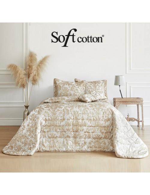 Покрывало Adria krem Soft Cotton /с узором