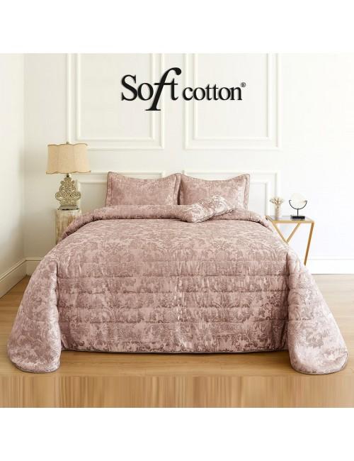 Покрывало Adria pembe Soft Cotton /с узором