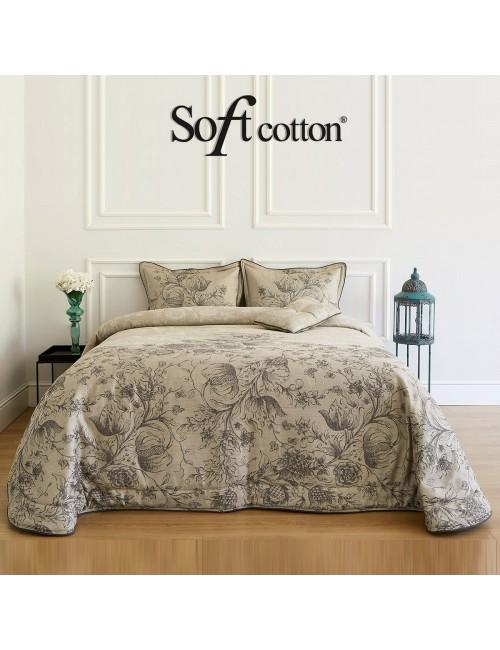 Покрывало Helenia bej Soft Cotton /с узором