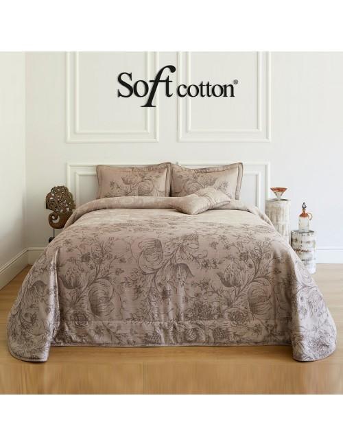 Покрывало Helenia pudra Soft Cotton /с узором