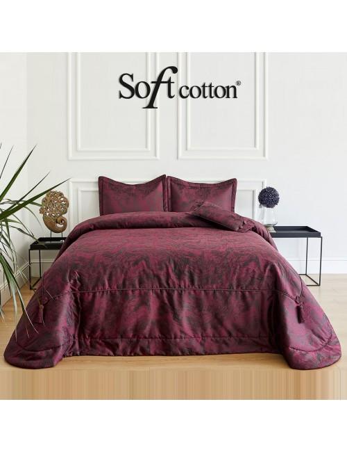 Покрывало Valeri bordo Soft Cotton /с узором