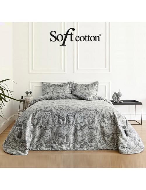 Покрывало Valeri Gri Soft Cotton /с узором
