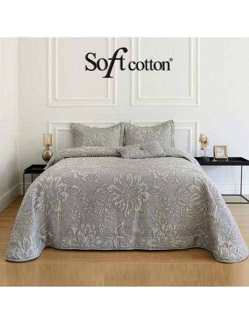 Покрывало Larina Gri Soft Cotton /с узором