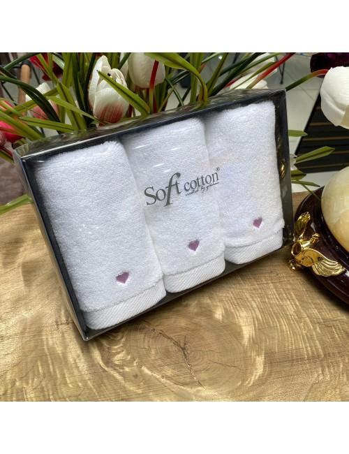Полотенца «Love Lila» (3 шт.) Soft Cotton 30Х50 см.