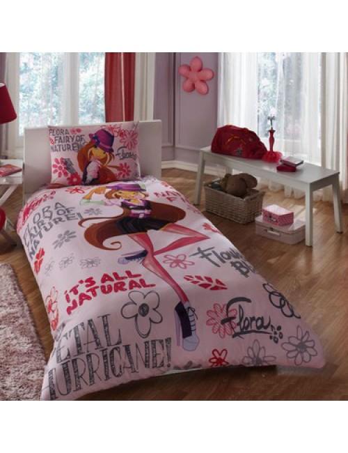 TAC Disney / Winx Holiday Flora Лицензионные Комплекты детского постельного белья с героями из мультиков Ранфорс