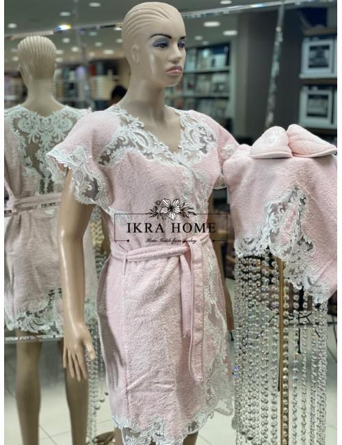 ADRIANNA Zebra Casa / Банный халат из 5 предметов 100% хлопок