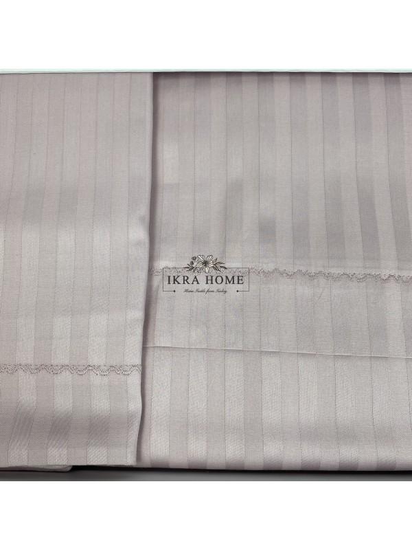 Florida Gul Gelin home | Двуспальное постельное белье жаккард страйп сатин делюкс с вышивкой  - 2021