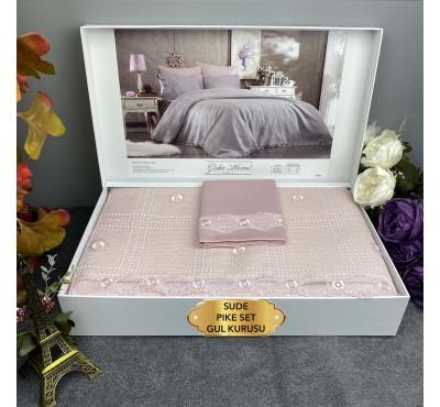 Sude Gul kurusu Gelin Home   Набор с покрывалом 2-спальный Сатин Делюкс из 6-ти предметов
