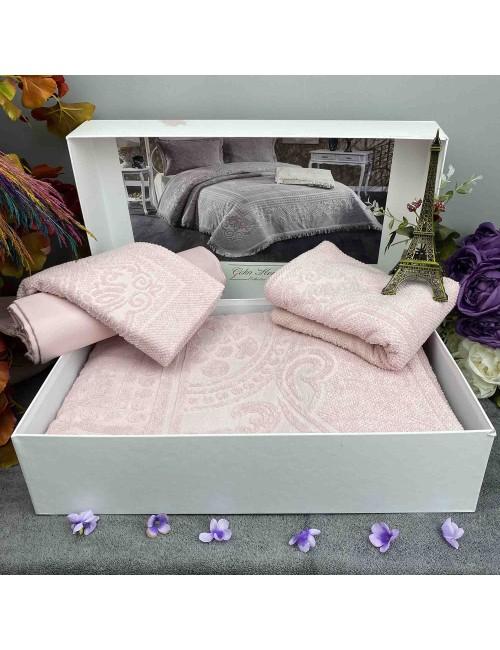 Pano Gul kurusu pike Gelin Home | Набор с покрывалом 2-спальный Сатин Делюкс из 4-x предметов