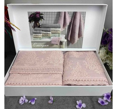"Gelin home ""Emirgan Gul Kurusu"" / Набор из 3-х полотенец в подарочной коробке"