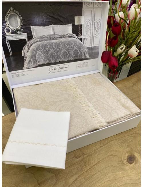GELIN HOME TRUVA SAMPANYA | Комплект постельного белья с покрывалом/пике