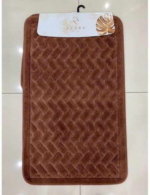 ZEBRA CASA JUDY KAHVE / Очень мягкие коврики для ванной комнаты