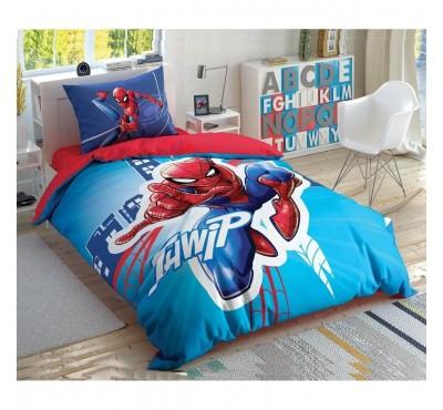TAC Disney / SPIDERMAN LIGHT CITY Лицензионные Комплекты детского постельного белья с героями из мультиков Ранфорс