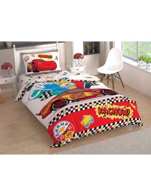 TAC Disney / DH. CARS KACHOW Лицензионные Комплекты детского постельного белья с героями из мультиков Ранфорс