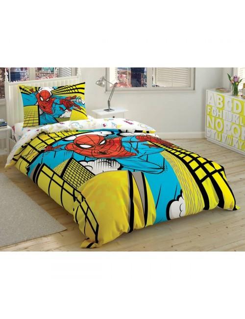 TAC Disney / SPIDERMAN EXCITING JUMP Лицензионные Комплекты детского постельного белья с героями из мультиков Ранфорс