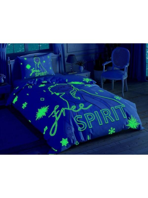 TAC Disney / FROZEN 2 FREE SPIRIT Лицензионные Комплекты детского постельного белья с героями из мультиков Ранфорс