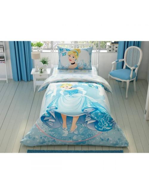 TAC Disney / CINDRELLA FOREVER Лицензионные Комплекты детского постельного белья с героями из мультиков Ранфорс
