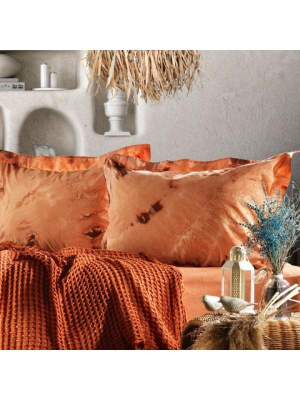 Zebra Casa - Loft (Kiremit) Шикарный набор КПБ c жатым покрывалом из 100% хлопка