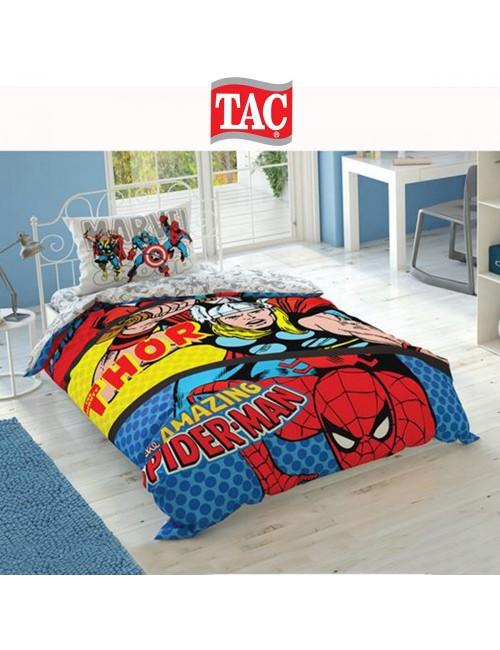 TAC Disney / Marvel-Comics Лицензионные Комплекты детского постельного белья с героями из мультиков Ранфорс