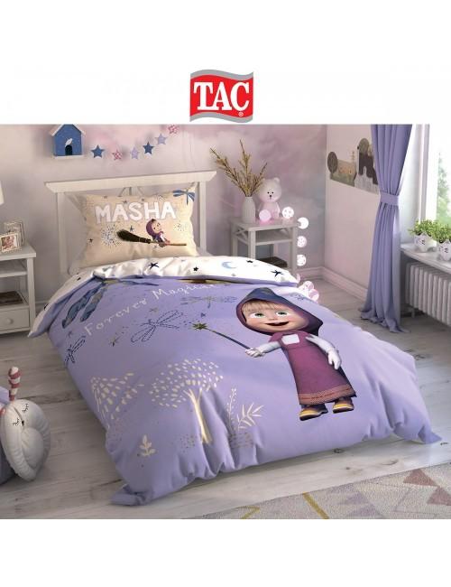 TAC Disney / Masha and The Bear Magical Лицензионные Комплекты детского постельного белья с героями из мультиков Ранфорс