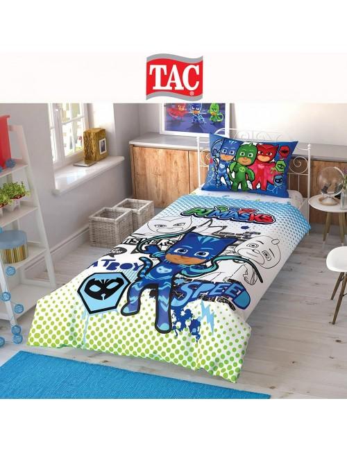TAC Disney / PJ-Masks Лицензионные Комплекты детского постельного белья с героями из мультиков Ранфорс