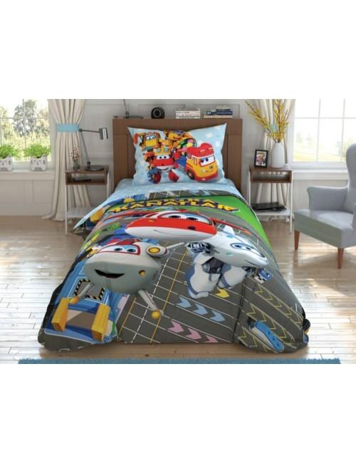 TAC Disney / Harika Kanatlar Runway Лицензионные Комплекты детского постельного белья с героями из мультиков Ранфорс