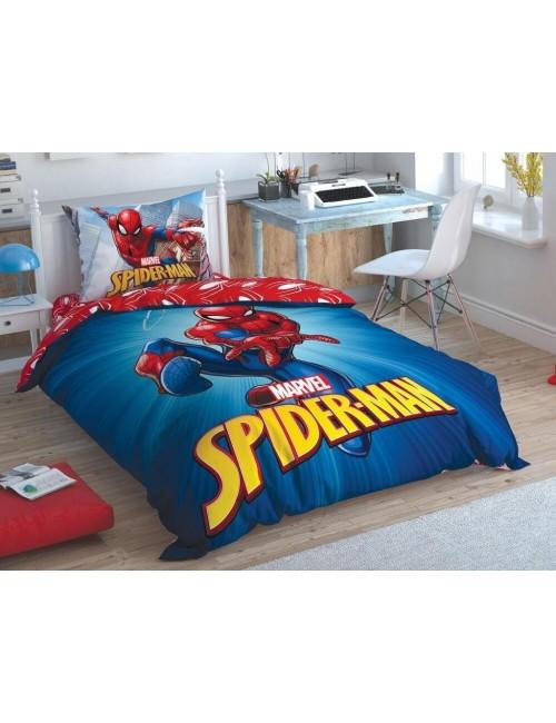 TAC Disney / Spiderman Time to Move Лицензионные Комплекты детского постельного белья с героями из мультиков Ранфорс