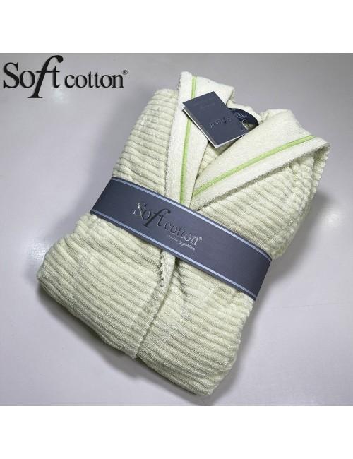 Халат Женский Soft Cotton Stripe Lady Sari хлопковая махра