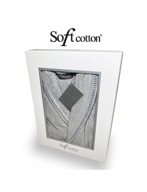 Халат мужской Soft Cotton Viviano bej хлопковая махра