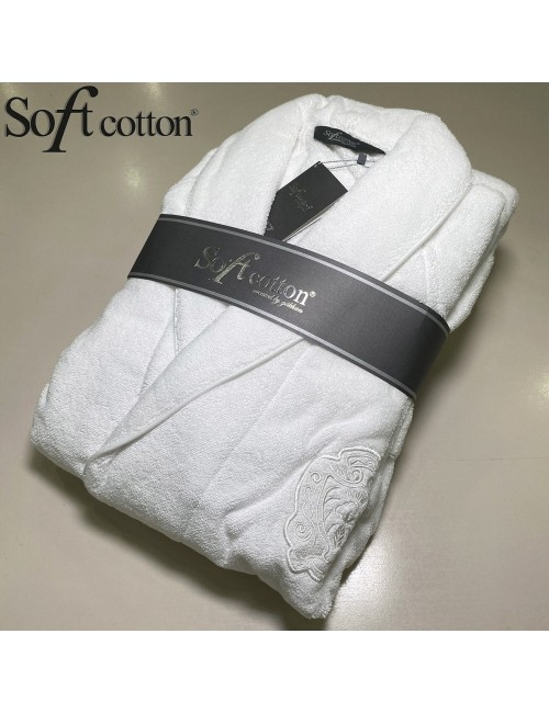 Халат мужской Soft Cotton Deluxe beyaz