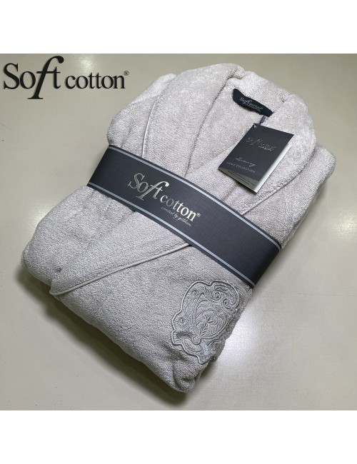 Халат мужской Soft Cotton Deluxe gri