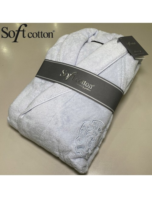 Халат мужской Soft Cotton Deluxe mavi