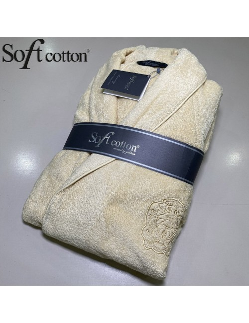 Халат мужской Soft Cotton Deluxe hardal