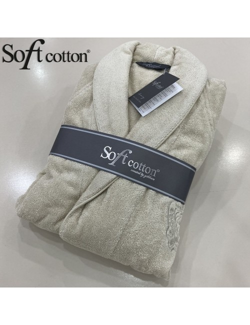 Халат мужской Soft Cotton Deluxe bej