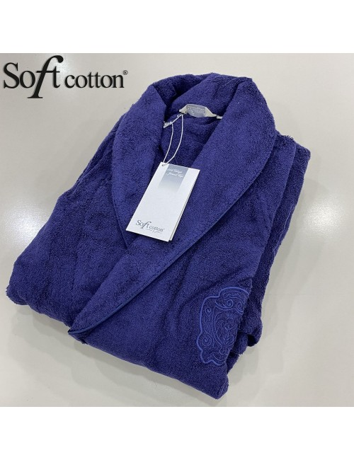 Халат мужской Soft Cotton Deluxe lacivert