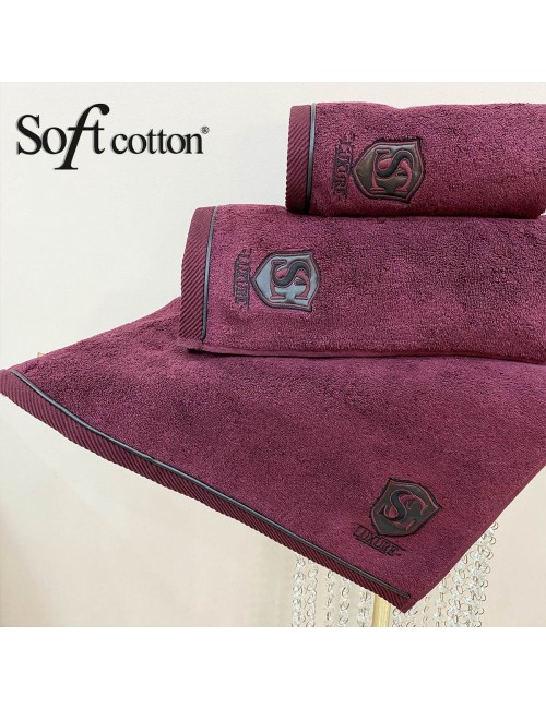 Soft Сotton / Полотенце банное 85х150 см Luxure (bordo)