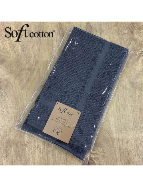 Полотенце-коврик для ног Soft Cotton Node (Lacivert) 50x90 см