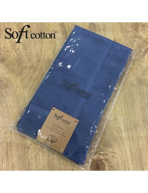Полотенце-коврик для ног Soft Cotton Node (Mavi) 50x90 см