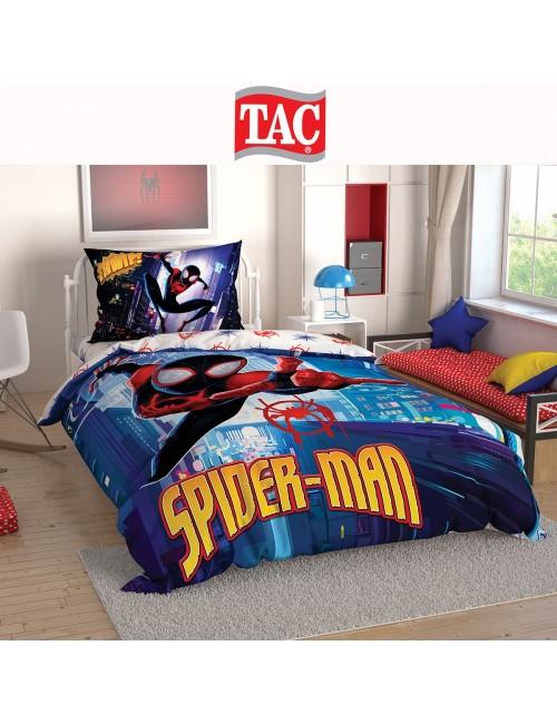 TAC Disney / Spiderman Into Spider Verse Лицензионные Комплекты детского постельного белья с героями из мультиков Ранфорс