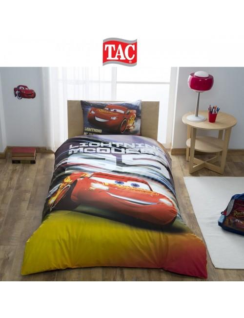 TAC Disney / Cars Lighting MCQUEEN Лицензионные Комплекты детского постельного белья с героями из мультиков Ранфорс