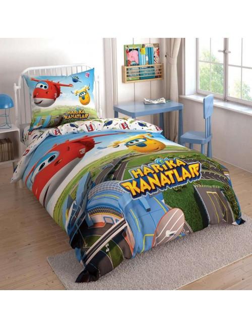 TAC Disney / Harika Kanatlar Лицензионные Комплекты детского постельного белья с героями из мультиков Ранфорс