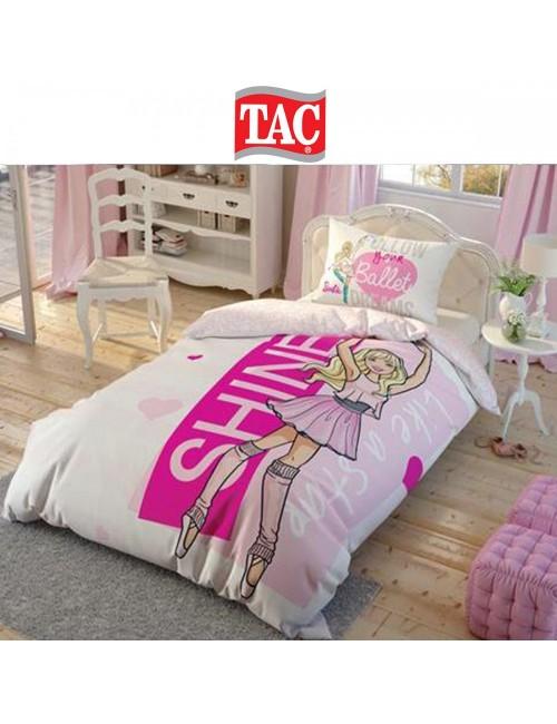 TAC Disney / Barbie Ballet Лицензионные Комплекты детского постельного белья с героями из мультиков Ранфорс